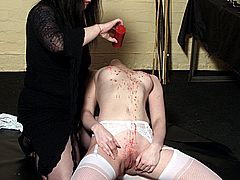 Bdsm slavegirl Ayliths lesbian domination and kinky fetish punishments by her lezdom mistress Jay from Shadow Slaves