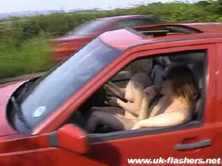 Public lesbian maniac blondes nude driving flashing madness and outdoor ...