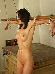 Pain delivered to beautiful slavegirls body in the barn from The Pain Files