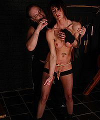 Sadistic pussy pain of english sado maso slavegirl Daniella from The Pain Files