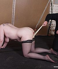 Jays mature pussy pain and extreme bdsm submission in the dungeon for the experienced tattooed slavegirl from Shadow Slaves