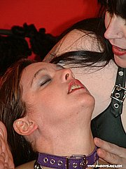 Lesbian sextoys kinky pussy licking and erotic fetish domination by rude mature mistress Jay from Shadow Slaves