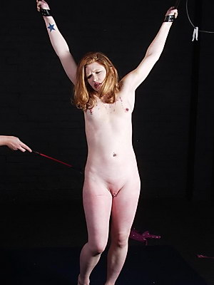Redhead lesbian bdsm slave Madisons bondage punishment by strict Mistress Jay from Shadow Slaves