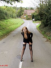 Naughy mature amateur housewife flashing the local village and posing in public from UK Flashers