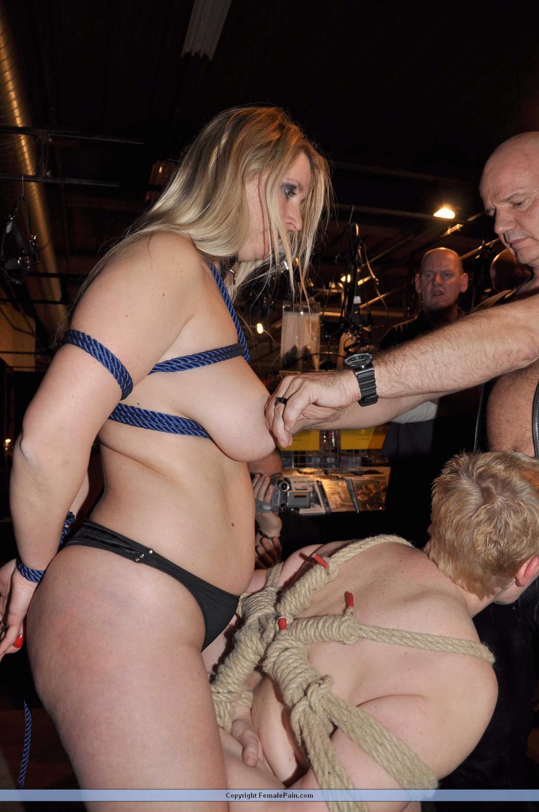 Amateur public bondage