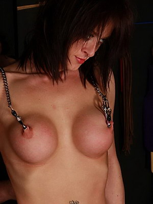 Pussy Punished busty painslave Daniellas extreme fetish and metal clamped bdsm torments from The Pain Files