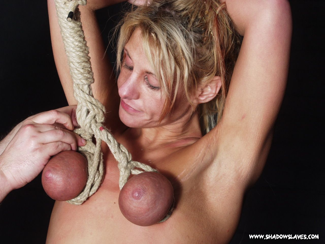 Extreme tit breast bondage time